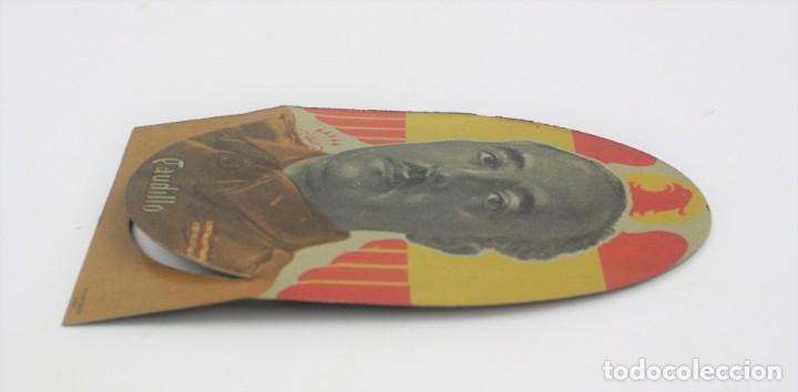 Militaria: Placa de metal, Caudillo, Francisco Franco, centro editor Vigo. 15x10cm - Foto 2 - 159194390