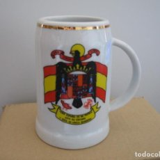 Militaria: JARRA DE CERVEZA, ESCUDO AGUILA PRECONSTITUCIONAL.. Lote 159434526