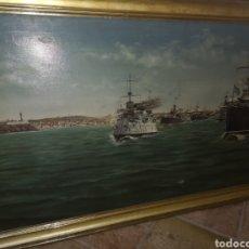 Militaria: ÓLEO SOBRE LIENZO, GUERRA DE CUBA,FIRMADO FÉLIX MUNILLA,SOLO VENTA A ESPAÑA. Lote 159715089