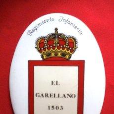 Militaria: METOPA REGIMIENTO INFANTERÍA GARELLANO Nº 45, EL GARELLANO 1503. Lote 160609382