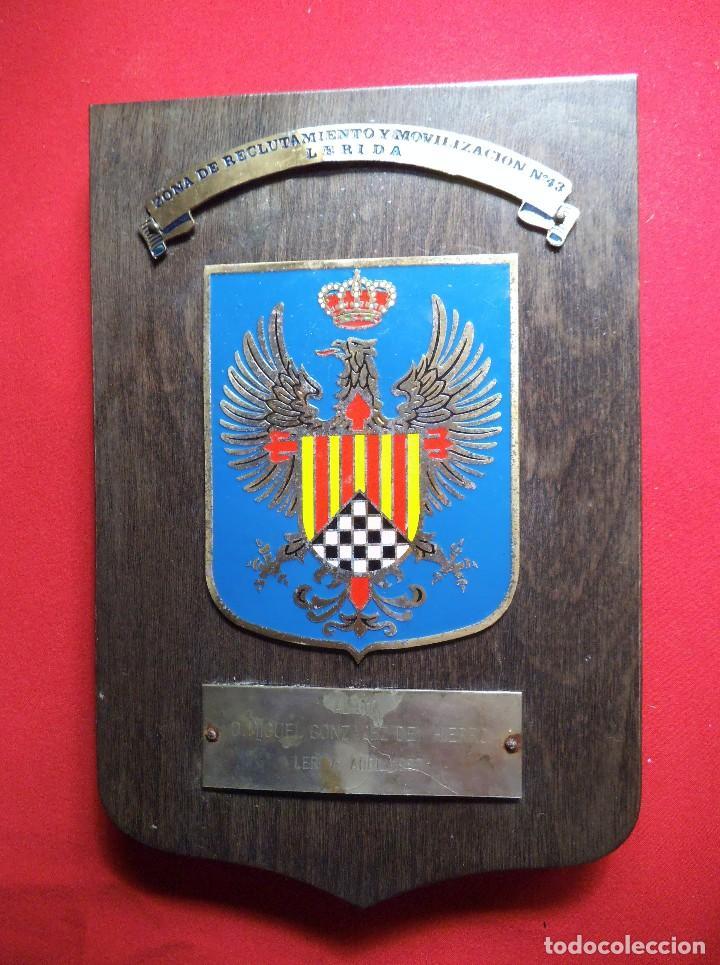 METOPA ZONA DE RECLUTAMIENTO Y MOVILIZACIÓN Nº 13 LERIDA (Militar - Reproducciones, Réplicas y Objetos Decorativos)