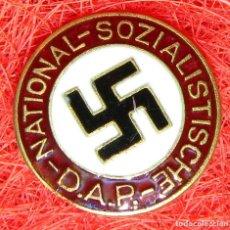 Militaria: NSDAP. INSIGNIA DEL PARTIDO DE LOS TRABAJADORES ALEMÁN. DIAM: 22 MM. BUNTMETALL. Lote 175006337