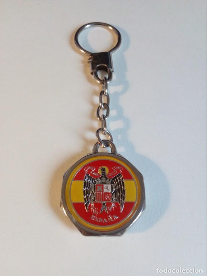 Militaria: LLAVERO RARO DE FUERZA NUEVA (BLAS PIÑAR) CON ÁGUILA DE SAN JUAN Y BANDERA ESPAÑA - Foto 6 - 162152122