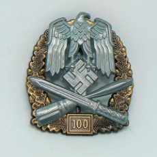 Militaria: INSIGNIA DE ASALTO GENERAL - 100 ASALTOS. TERCER REICH. NAZI. Lote 224926232