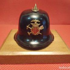Militaria: ANTIGUO PEQUEÑO CASCO DECORATIVO DE BOMBEROS DE VALENCIA. Lote 162956162
