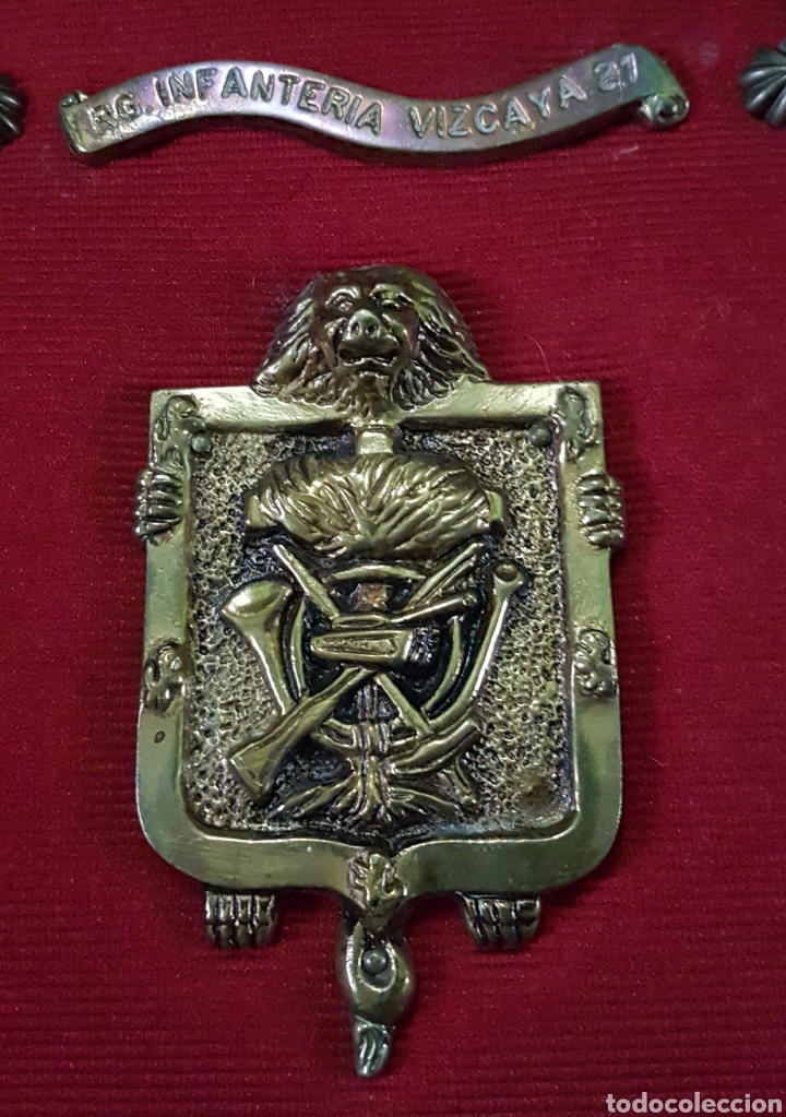 Militaria: Metopa bronce regimiento infantería Vizcaya 21 - Foto 2 - 162965820