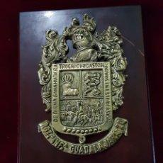 Militaria: METOPA BRONCE REGIMIENTO INFANTERÍA GUADALAJARA 20. Lote 162966814