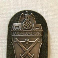 Militaria: INSIGNIA DEMJANSK 1942 TERCER III REICH, NAZI, HITLER, NSDAP. Lote 163473594