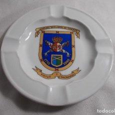 Militaria: CENICERO CERÁMICA - JEFATURA MUTILADOS DE TENERIFE - 1715/1992 VIRTUD Y SACRIFICIO. Lote 166466770