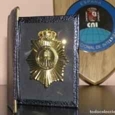 Militaria: PLACA AGENTE DEL CENTRO NACIONAL DE INTELIGENCIA CNI CON CARTERA. SERVICIO SECRETO. Lote 217514577