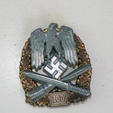 Militaria: INSIGNIA DE ASALTO GENERAL - 100 ASALTOS. TERCER REICH. NAZI. Lote 167178981
