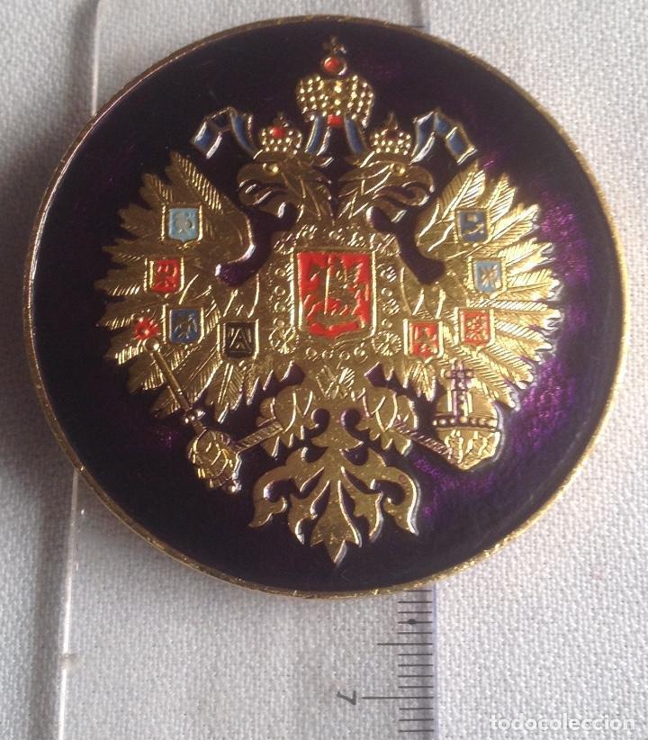 Militaria: INSIGNIA ESCUDO AGUILA BICÉFALA RUSIA - Foto 4 - 168466056