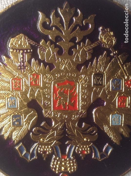Militaria: INSIGNIA ESCUDO AGUILA BICÉFALA RUSIA - Foto 5 - 168466056