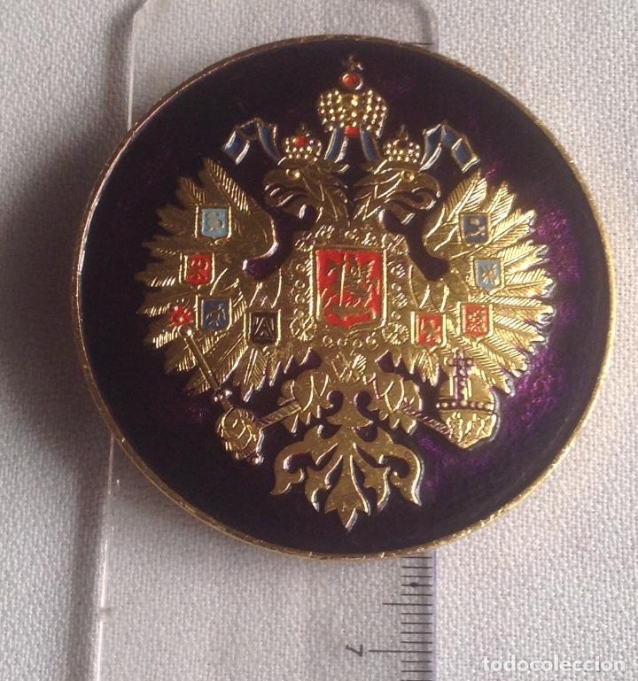 Militaria: INSIGNIA ESCUDO AGUILA BICÉFALA RUSIA - Foto 3 - 168466056