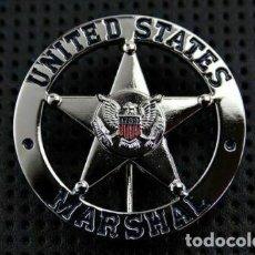 Militaria: PLACA DE LOS MARSHAL DE LOS ESTADOS UNIDOS. POLICÍA AMERICANA. EEUU. USA POLICE.. Lote 169422360