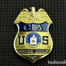 Militaria: PLACA DE AGENTE ESPECIAL DE LA CIA. POLICÍA AMERICANA. EEUU. USA POLICE.. Lote 169422540