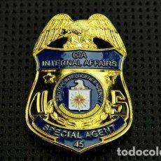 Militaria: PLACA DE AGENTE ESPECIAL DE LA CIA (ASUNTOS INTERNOS). POLICÍA AMERICANA. EEUU. USA POLICE.. Lote 169422864
