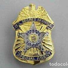 Militaria: PLACA DE AGENTE ESPECIAL DEL SERVICIO SECRETO DE LOS U.S. POLICÍA AMERICANA. EEUU. USA POLICE.. Lote 169423264