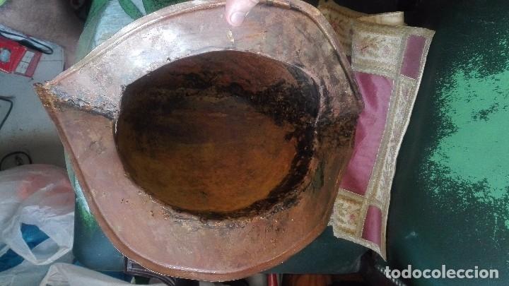 Militaria: Morrion original de hierro,actual. - Foto 4 - 169086236