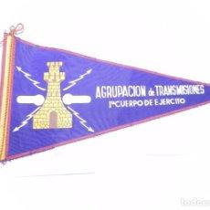 Militaria: ANTIGUO BANDERIN DE LA AGRUPACION DE TRANSMISIONES, PRIMER CUERPO DE EJERCITO, MIDE 27,5 CMS. DE LON. Lote 170486160