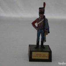 Militaria: SOLDADO PLOMO - ESPAÑA 1808 OFICIAL DE HUSARES. Lote 171065455