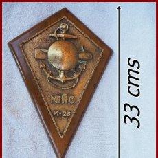 Militaria: 188.. ESPECTACULAR METOPA M 25 DRAGAMINAS MIÑO....MEDIDAS.....33 X 22 CMS.....PESO.....2,750 KGS. Lote 171775853