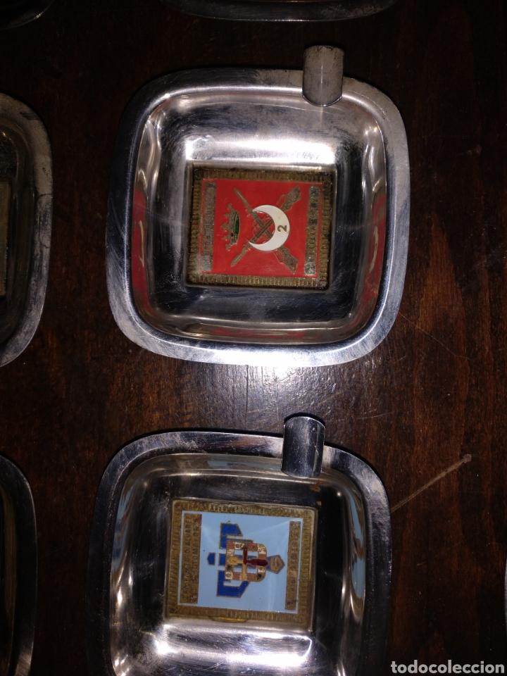 Militaria: Lote de 14 ceniceros con referencia a varios grupos del ejército - Foto 9 - 172074115