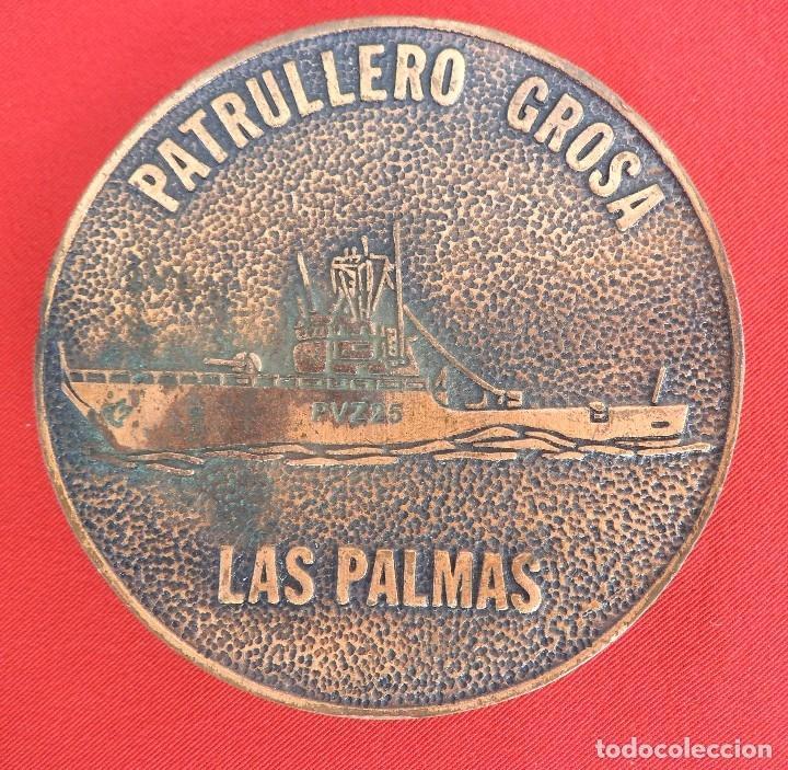 Militaria: Medalla de mano del patrullero PVZ25 Grosa, Las Palmas de 8 ctms de diámetro . - Foto 2 - 172166249