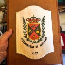 Militaria: BONITA PLACA REGIMIENTO DE VALLADOLID. Lote 172612817