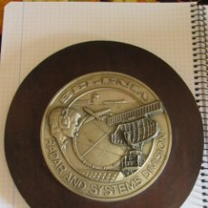Militaria: METOPA PLACA SELENIA - RADAR AND SYSTEMS DIVISION. Lote 172964959