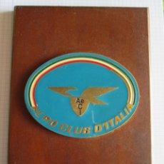 Militaria: METOPA PLACA AERO CLUB D'ITALIA. Lote 172965043