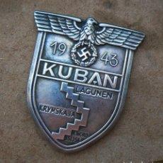 Militaria: INSIGNIA KUBAN 1943 ESCUDO DE BATALLA TERCER REICH. NAZI. Lote 173667317