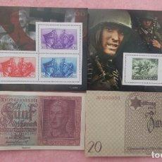 Militaria: LOTE REPRODUCCIONES SEGUNDA GUERRA MUNDIAL, BILLETES Y SELLOS /// NAZIS / TERCER REICH / HITLER. Lote 174037945