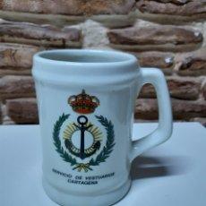 Militaria: JARRA SERVICIO VESTUARIOS DE LA ARMADA CARTAGENA. Lote 174989855