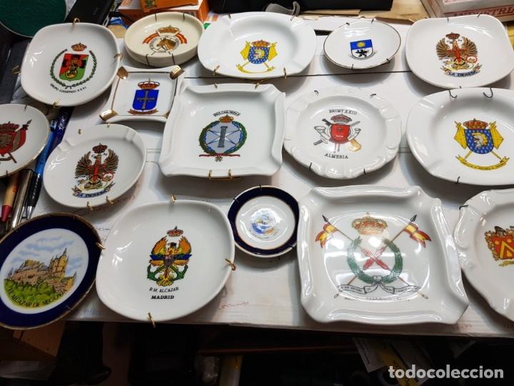 LOTE CENICEROS ANTIGUOS PORCELANA MILITARES LOTE 23 ALGUNOS DIFÍCILES (Militar - Reproducciones, Réplicas y Objetos Decorativos)