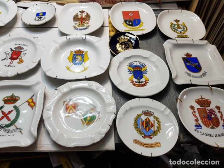 Militaria: Lote Ceniceros antiguos porcelana militares lote 23 algunos difíciles - Foto 2 - 175820907