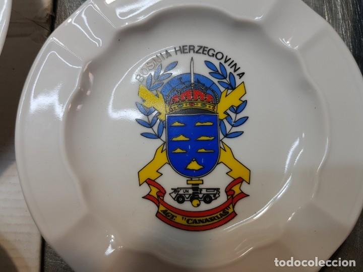 Militaria: Lote Ceniceros antiguos porcelana militares lote 23 algunos difíciles - Foto 8 - 175820907