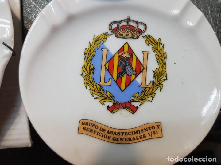 Militaria: Lote Ceniceros antiguos porcelana militares lote 23 algunos difíciles - Foto 9 - 175820907