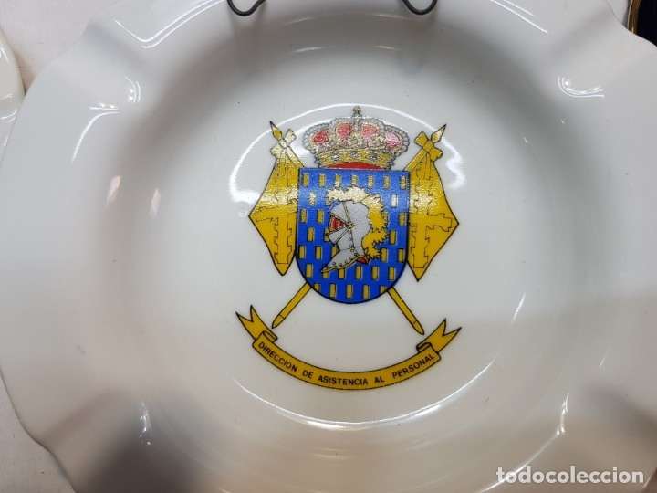 Militaria: Lote Ceniceros antiguos porcelana militares lote 23 algunos difíciles - Foto 11 - 175820907