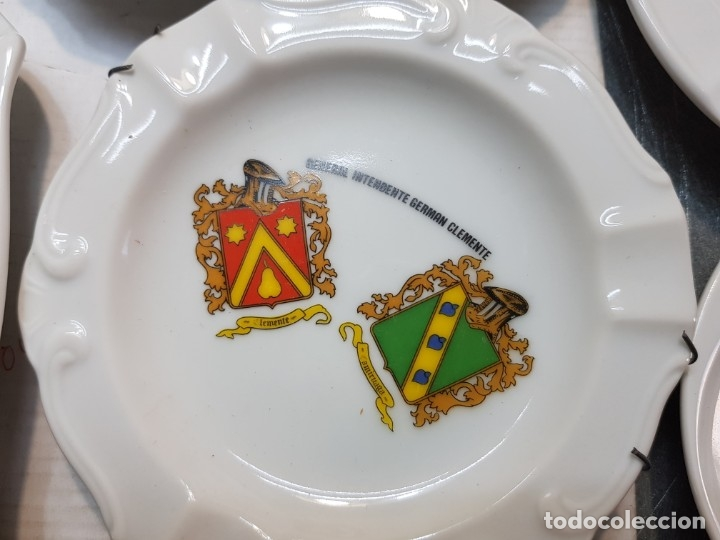 Militaria: Lote Ceniceros antiguos porcelana militares lote 23 algunos difíciles - Foto 12 - 175820907