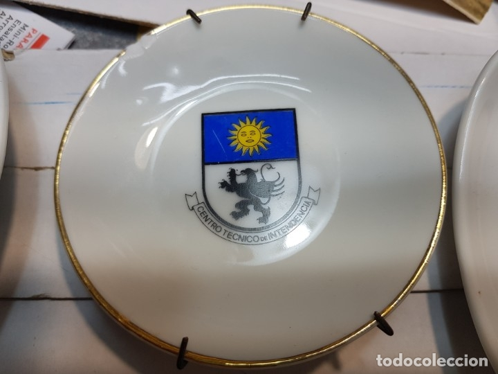 Militaria: Lote Ceniceros antiguos porcelana militares lote 23 algunos difíciles - Foto 13 - 175820907