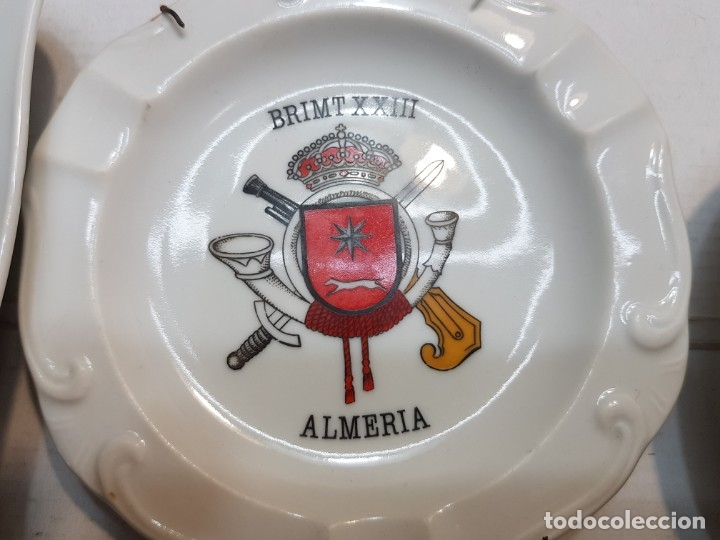 Militaria: Lote Ceniceros antiguos porcelana militares lote 23 algunos difíciles - Foto 14 - 175820907