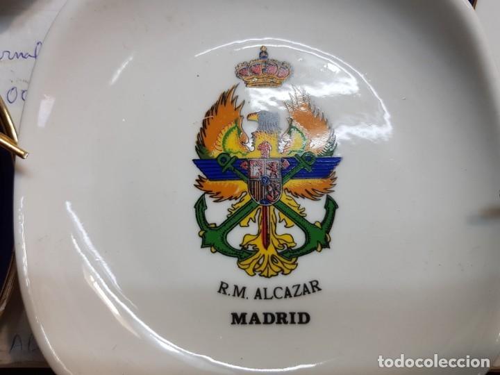 Militaria: Lote Ceniceros antiguos porcelana militares lote 23 algunos difíciles - Foto 19 - 175820907