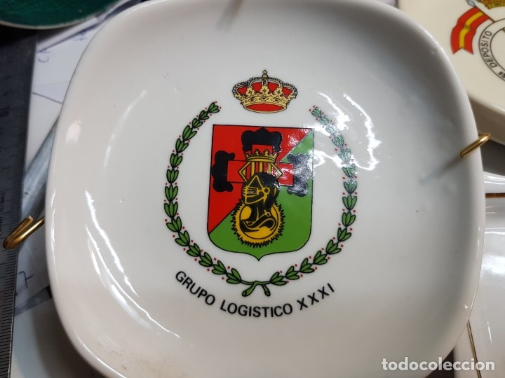 Militaria: Lote Ceniceros antiguos porcelana militares lote 23 algunos difíciles - Foto 23 - 175820907