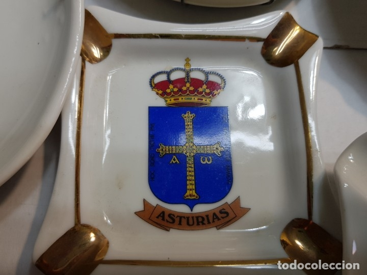 Militaria: Lote Ceniceros antiguos porcelana militares lote 23 algunos difíciles - Foto 24 - 175820907
