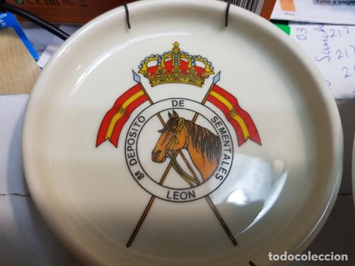 Militaria: Lote Ceniceros antiguos porcelana militares lote 23 algunos difíciles - Foto 25 - 175820907
