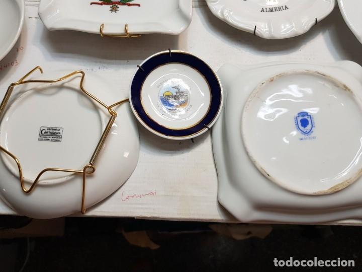 Militaria: Lote Ceniceros antiguos porcelana militares lote 23 algunos difíciles - Foto 26 - 175820907