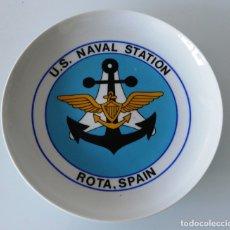 Militaria: ARMADA NORTEAMERICANA. U.S. NAVAL STATION. BASE NAVAL DE ROTA, CÁDIZ. PLATO DECORATIVO. Lote 177518815