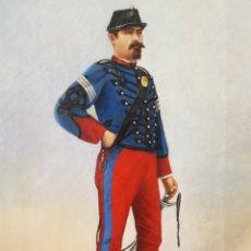 Militaria: ESCUELA ESPAÑOLA (XIX) - SOLDADO A PIE CON ESPADA, 1884.GOLOBARDAS.FIRMADO.. Lote 177697020
