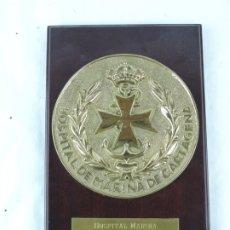Militaria: METOPA DEL HOSPITAL DE MARINA DE CARTAGENA. MEDICINA, MIDE 25 CMS APROX.. Lote 178253136